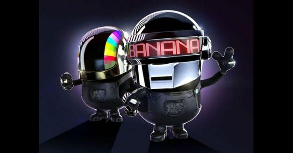 Na imagem, o Minion 'imitando' os músicos do Daft Punk. Os Minions, da franquia de filmes 'Meu Malvado Favorito', ganharam dezenas de versões diferentes nas mãos dos usuários
