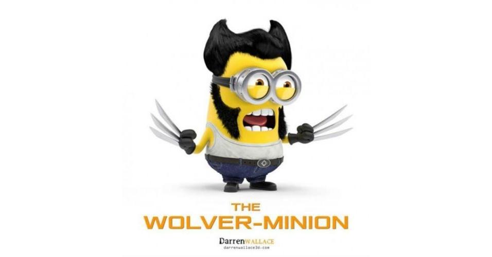 Os Minions, da franquia de filmes 'Meu Malvado Favorito', ganhou dezenas de versões diferentes nas mãos dos usuários. Na imagem, o Minion 'imitando' o personagem Wolverine