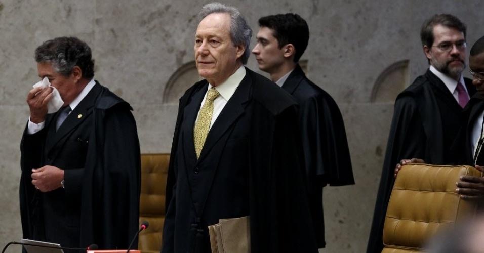 5.set.2013 - Ministros do STF (Supremo Tribunal Federal), retomam nesta quinta-feira (5) o julgamento dos recursos do mensalão. O Supremo pode encerrar ainda nesta quinta-feira a análise dos primeiros recursos dos réus condenados