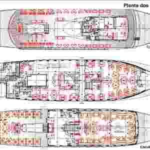 Plantas do navio Pink Fleet, de Eike Batista - Divulgação/Pink Fleet