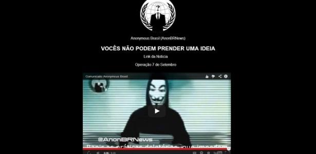 Anonymous Brasil hackeia site do PMDB e posta mensagem sobre protestos