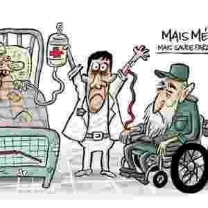 6.set.2013 - O cartunista Bruno Galvão critica os termos de contratação de médicos cubanos para o programa Mais Médicos - Reprodução/www.facebook.com/brunocartunista