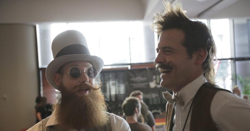 6.set.2013 - Mais de 150 competidores participaram do Campeonato de Barba e Bigode dos EUA, em Nova Orleans, Louisiana, no sábado (7).  Os competidores disputaram 18 categorias, entre elas, barba natural, bigode natural e bigode à Salvador Dalí