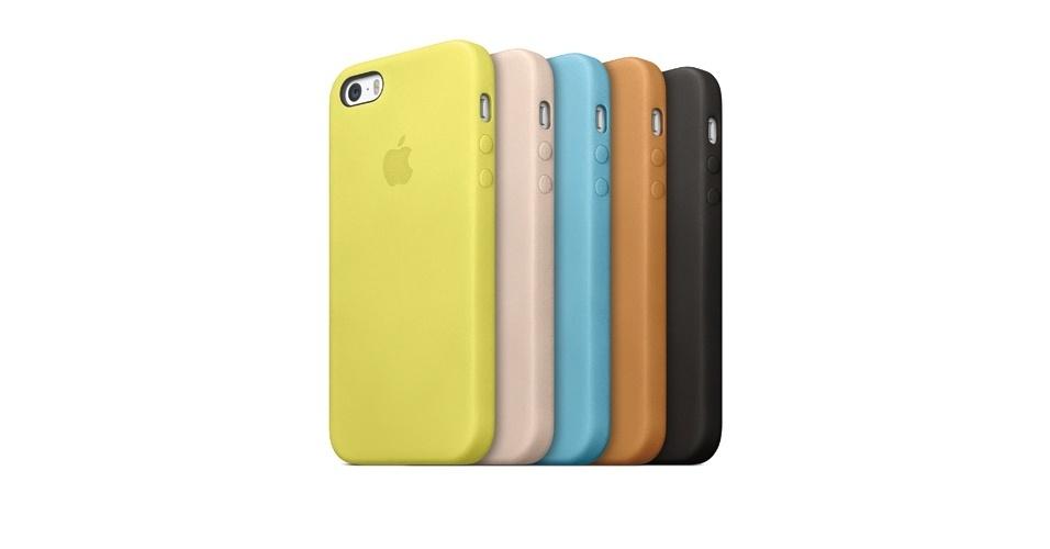 Além de ser vendido em três cores (preta, prata e dourada), o iPhone 5S terá capas coloridas
