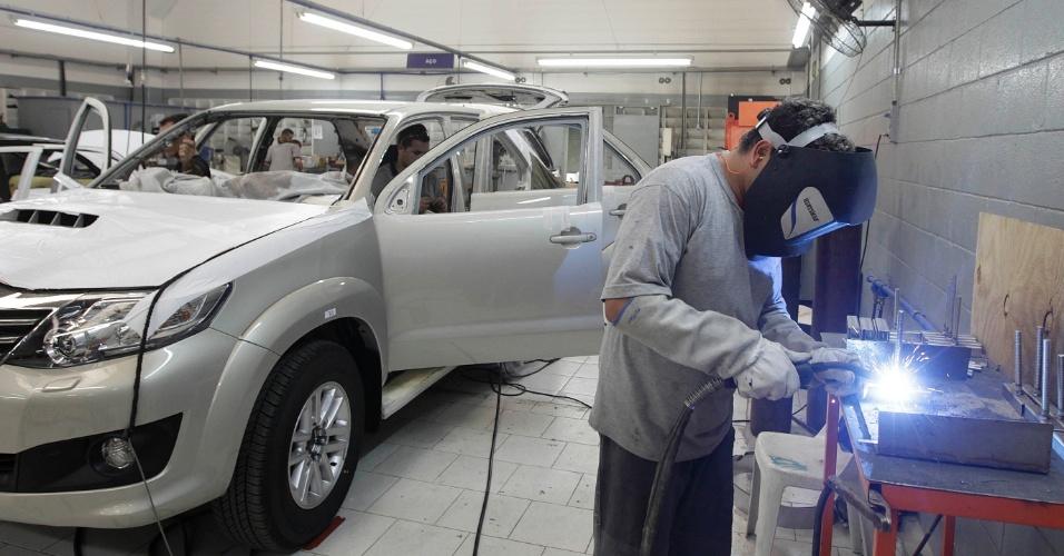 Empresa de blindagens de carros Concept Blindagens, em Mauá (SP)
