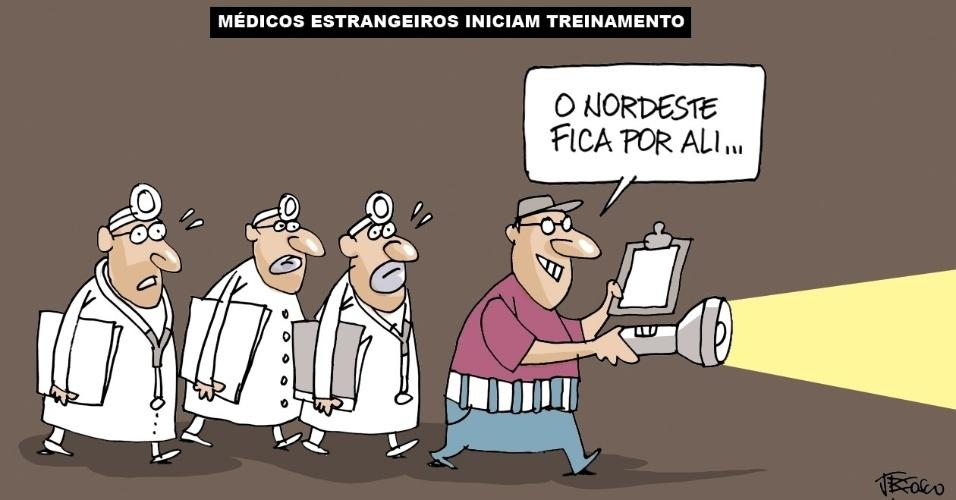13.set.2013 - A charge de J. Bosco critica as condições do SUS (Sistema Único de Saúde) do Nordeste