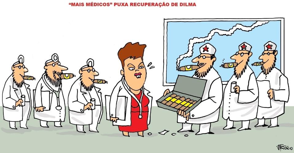 13.set.2013 - J. Bosco brinca sobre como a presidente Dilma Rousseff comemorou o aumento da popularidade graças ao início do programa Mais Médicos