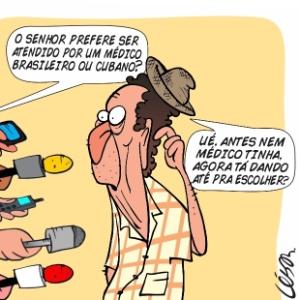 13.set.2013 - O chargista César Nogueira critica a polêmica criada em torno dos profissionais estrangeiros inscritos no programa Mais Médicos
