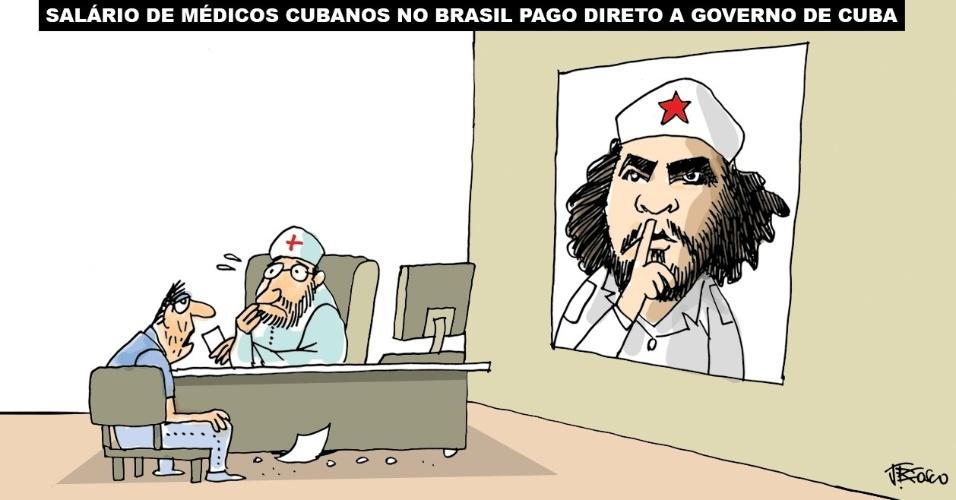 13.set.2013 - O chargista J. Bosco critica os termos de contratação de médicos cubanos para o programa Mais Médicos