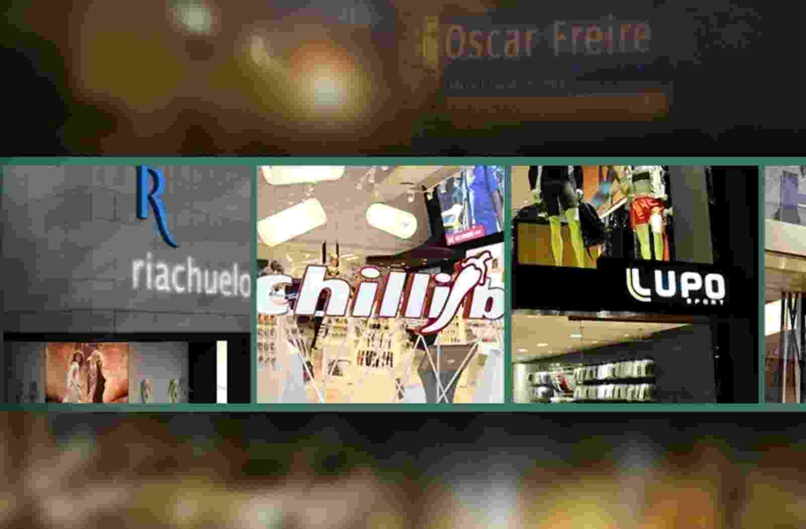 Marcas populares na Oscar Freire - Arte/UOL