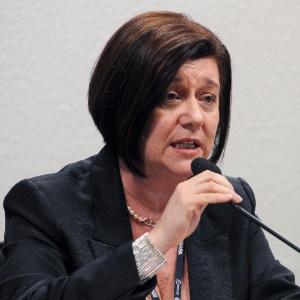 Magda Chambriard, diretora-geral da ANP (Agência Nacional do Petróleo), durante audiência da CPI da Espionagem - Geraldo Magela/Agência Senado