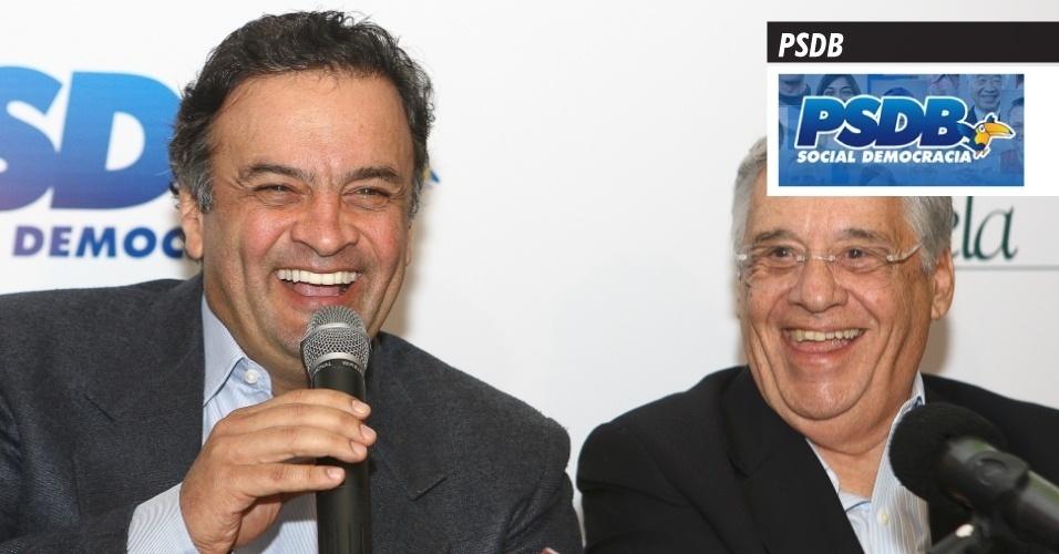 18.set.2013 - PSDB (Partido da Social Democracia Brasileira) - É presidido nacionalmente pelo senador Aécio Neves (MG), provável candidato à Presidência da República em 2014. Foi a legenda que comandou o Executivo nacional entre 1995 e 2002, tempo de mandato do ex-presidente Fernando Henrique Cardoso. Foi registrado definitivamente pelo TSE (Tribunal Superior Eleitoral) em agosto de 1988, originário de cisões dentro do PMDB. Em 2012, a sigla recebeu R$ 30,1 milhões do Fundo Partidário