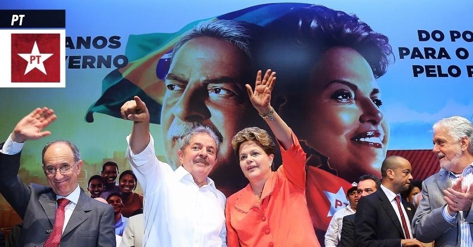 18.set.2013 - PT (Partido dos Trabalhadores) - É a legenda da atual presidente do Brasil, Dilma Rousseff, e que tem administrado o Executivo nacional desde 2003, com a eleição de um de seus fundadores, Luís Inácio Lula da Silva. Nomes importantes do partido foram condenados pelo STF (Supremo Tribunal Federal) por envolvimento no mensalão, dentre eles o deputado federal José Genoino e o ex-ministro da Casa Civil José Dirceu. A sigla recebeu registro definitivo do TSE (Tribunal Superior Eleitoral) em fevereiro de 1982 e surgiu da organização sindical de operários paulistas no final dos anos 1970. Tem como atual presidente o advogado Rui Falcão e, em 2012, recebeu R$ 43,2 milhões do Fundo Partidário