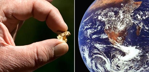 Teoria diz que o ouro teria se misturado com o ferro e afundado junto para o núcleo da Terra há dezenas de milhões de anos, mas outros cientistas afirmam que o metal teria chegado ao planeta por meio de uma chuva de meteoritos