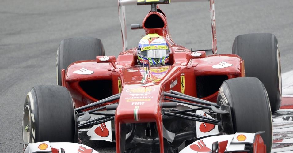 8.set.2013 - Felipe Massa dirige sua Ferrari durante o GP de Monza