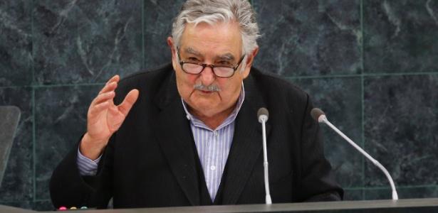 """24.set.2013 - O presidente do Uruguai, José Mujica, criticou a """"burocratização"""" da Organização das Nações Unidas e sua """"falta de poder e autonomia"""" - Ray Stubblebine/Reuters"""