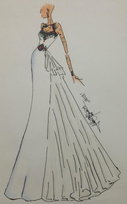 24.set.2013 - Sancler Frantz será vestida pelo estilista venezuelano Juan Fernando Mendoza na final do Miss Mundo 2013. Ele desenhou uma traje exclusivo inspirado na cultura da Indonésia.