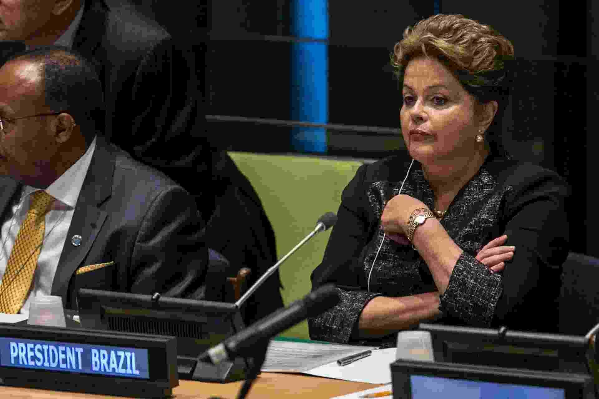 """24set;2013- A presidente Dilma Rousseff participa da mesa de abertura do Foro Político de Alto Nível sobre Desenvolvimento Sustentável """"Building the future we want: from Rio +20 to the Post-2015 Development Agenda"""" - Thiago Bernardes/Frame"""