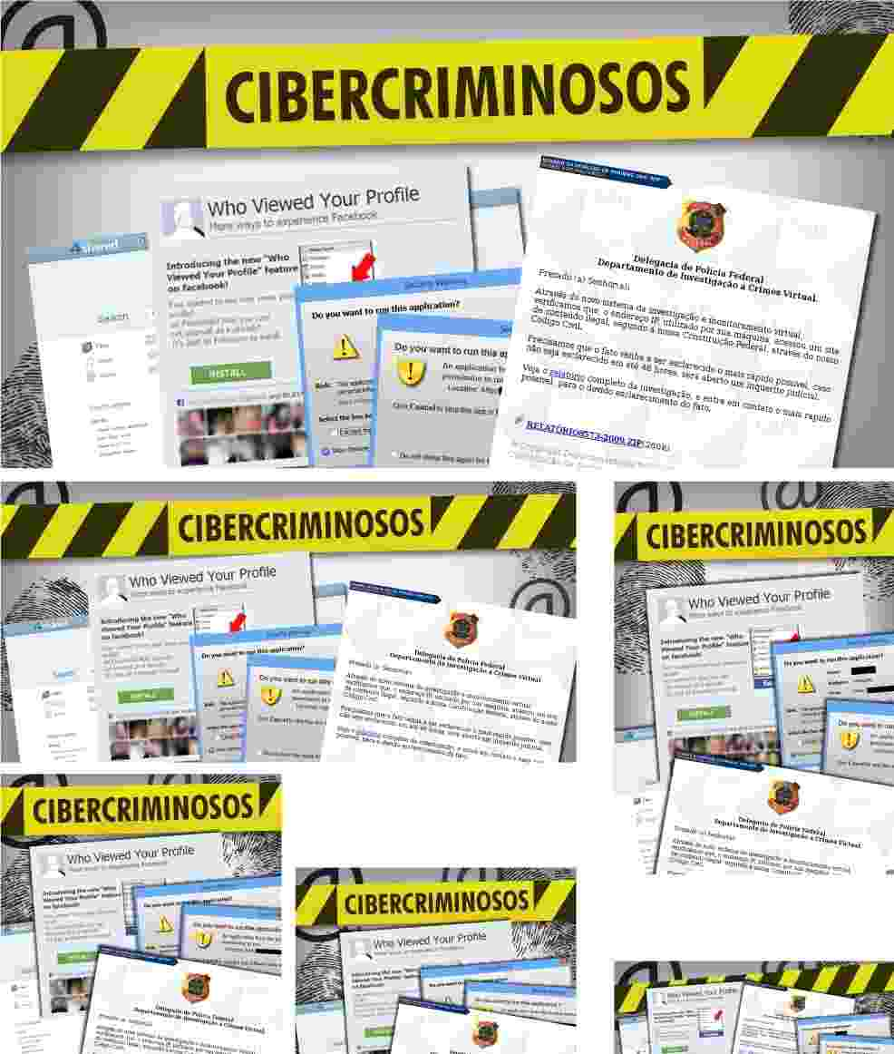 Chamada Album Cibercriminosos 24 Setetembro 2013 - Arte/UOL