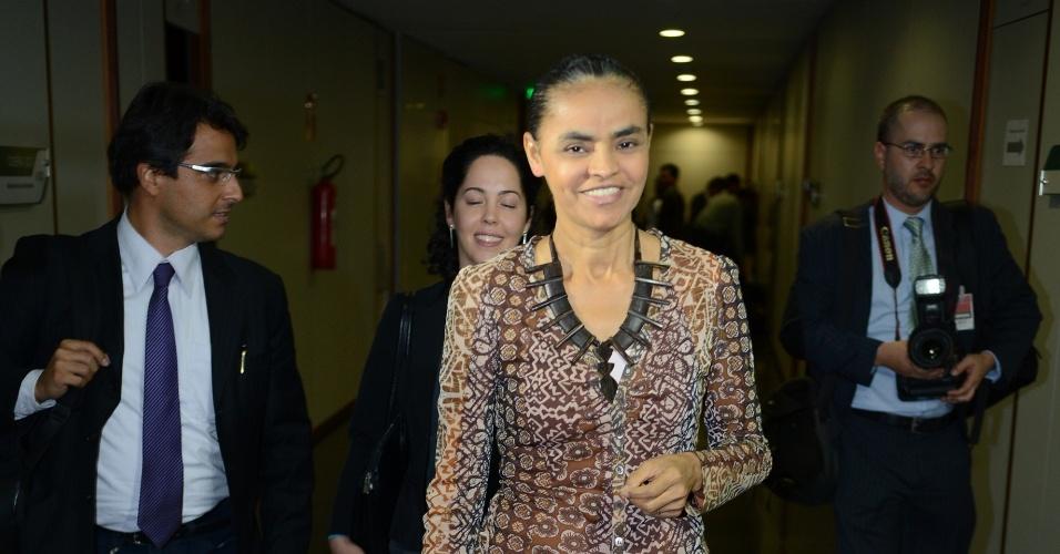 26.set.2013 - Ex-senadora Marina Silva no Tribunal Superior Eleitoral. Marina voltou a pedir ao TSE que conceda registro ao partido Rede Sustentabilidade, legenda fundada por ela