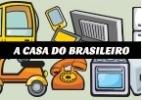 Máquina de lavar e computador ganham mais espaço na casa do brasileiro - Arte/UOL