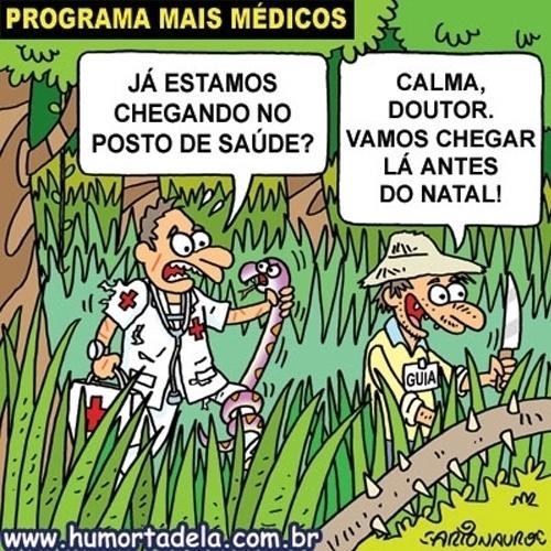 27.set.2013 - Charge publicada no Humortadela critica a falta de acesso para chegar a alguns postos de saúde no Brasil