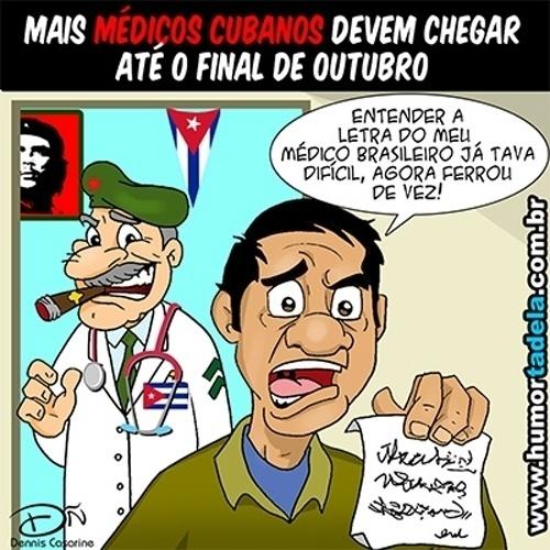 27.set.2013 - Charge publicada no Humortadela retrata com humor a dificuldade de entender a caligrafia dos médicos