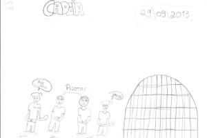 Em desenho, filha de vítima do acidente com o voo 1907, da Gol, pede que pilotos sejam presos