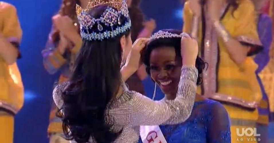 28.set.2013 - Miss Gana fica em terceiro lugar no concurso Miss Mundo 2013 realizado em Bali (Indonésia)