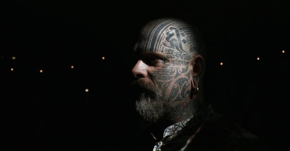28.set.2013 - Tatuador Matt Black participa da 9ª Convenção Internacional de Tatuagem em Londres. O evento reúne cerca de 300 artistas