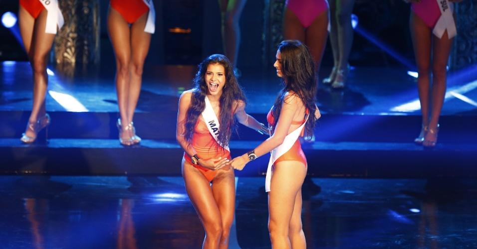 28.set.2013 - A Miss Mato Grosso, Jakelyne Oliveira, venceu o Miss Brasil 2013, realizado em Belo Horizonte, neste sábado (28)
