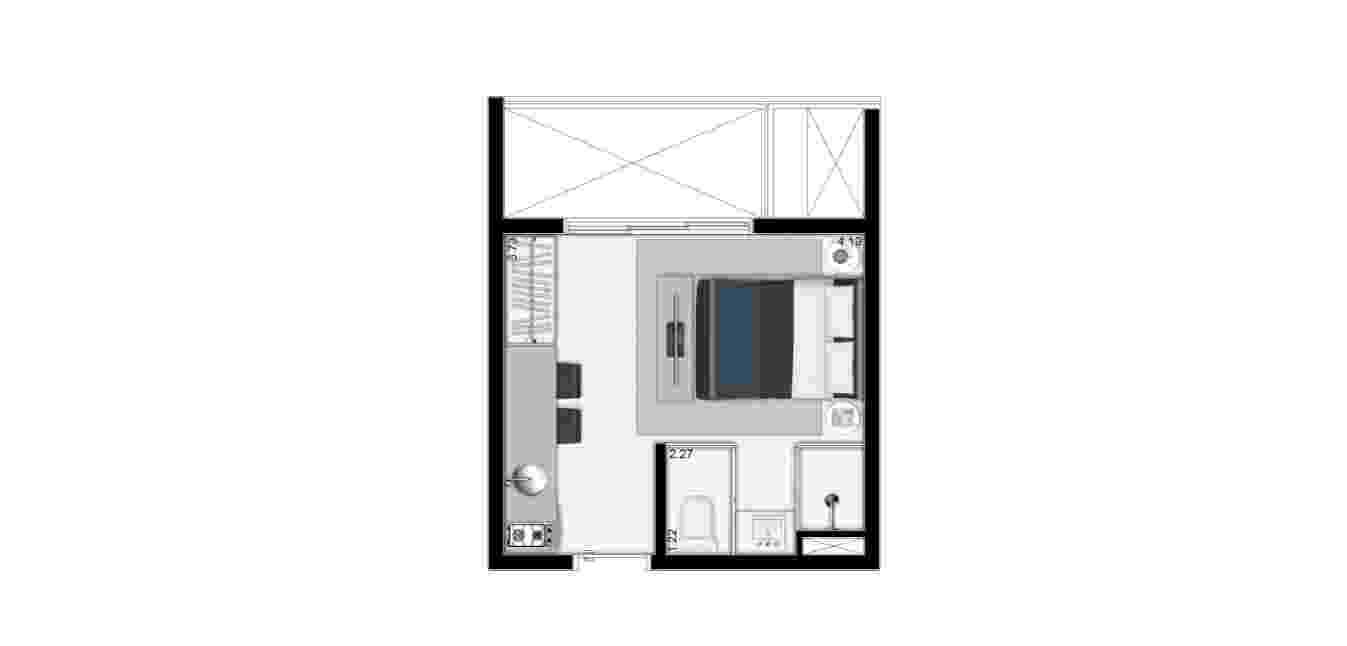 Projeto VN Quatá, feito pela construtora Vitacon com design assinado pelo escritório Basiches Arquitetos - Divulgação