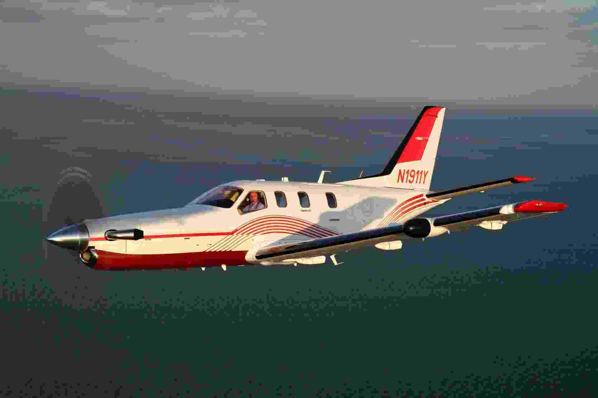 De olho em empresários do agronegócio, que representam 14% do mercado de aviação executiva do Brasil segundo a Abag (Associação Brasileira de Aviação Geral), a empresa Algar Aviation lançou em agosto um modelo de negócio no qual garante a compra do valor em soja de um monomotor turboélice TBM 850 (na foto) da Daher-Socata de produtores que comprarem o avião - Divulgação/Algar Aviation