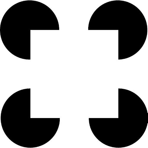 """2.out.2013 - A imagem acima """"convence"""" o cérebro de que há um quadrado em cima dos quatros círculos, bem no centro, porque cria uma ilusão de ótica ao desenhar as linhas contínuas entre as partes faltantes dos objetos geométricos. Chamado de """"Quadrado de Kanisza"""", ele foi usado por pesquisadores norte-americanos para entender como essa """"pegadinha"""" se forma no cérebro"""