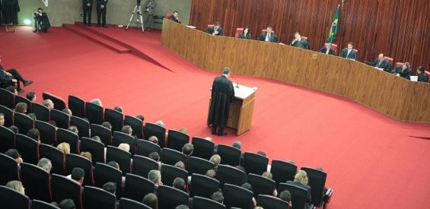 Plenário do TSE (Tribunal Superior Eleitoral) durante sessão que analisa a criação da Rede, partido da ex-senadora Marina Silva - TSE/Divulgação