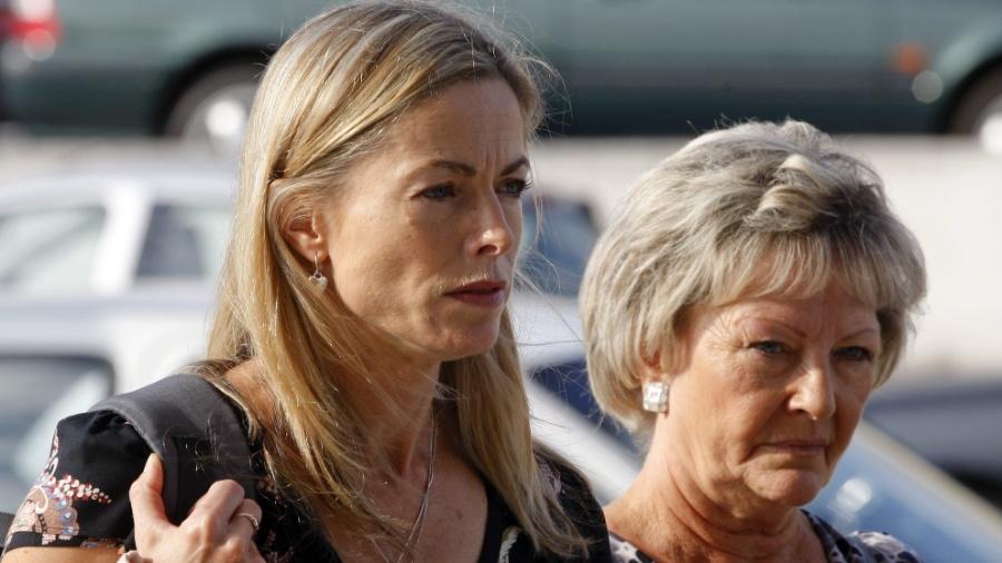 Kate McCann (à esquerda), mãe da menina Madeleine, garota britânica desaparecida desde 2007 em Portugal, em audiência em Lisboa, em 2013 - Manuel De Almeida/EFE