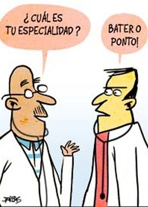 4.out.2013 - O chargista Jarbas critica os médicos brasileiros que batem ponto e não atendem aos pacientes do SUS