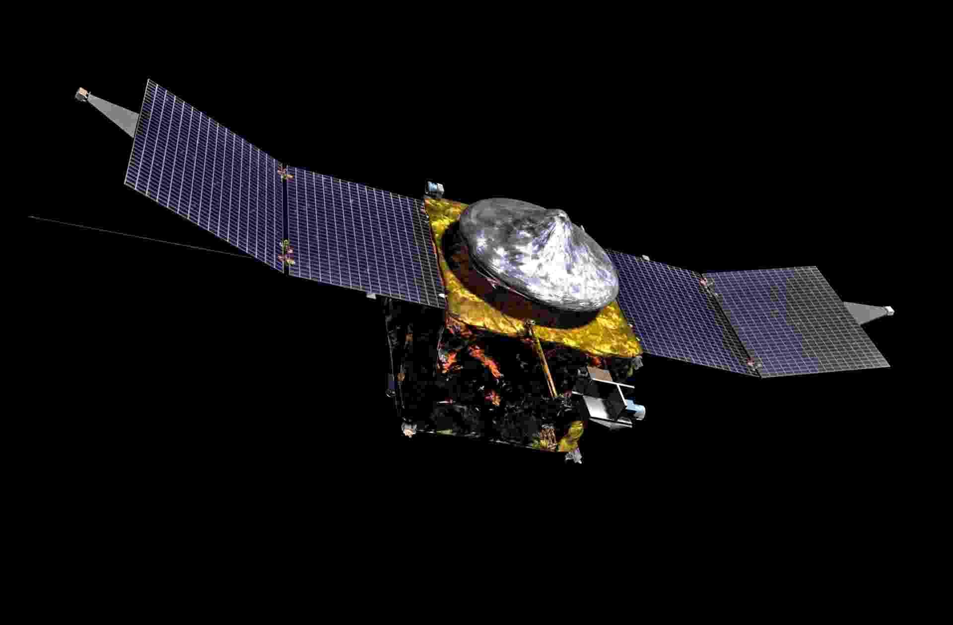 5.out.2013 - Os instrumentos da sonda Maven estão desenhados para que os cientistas da Nasa (Agência Espacial Norte-Americana) chequem como a atmosfera tênue de Marte, composta majoritariamente de dióxido de carbono, mudou com o tempo e afetou a capacidade do planeta vermelho em sustentar vidas. O período ideal para lançamento termina no dia 17 de dezembro de 2014, caso contrário, só em 2016, quando a Terra e Marte voltarão a se alinhar de maneira apropriada - se lançada na data prevista, Maven chegará à órbita de Marte em setembro de 2014 - Lockheed Martin