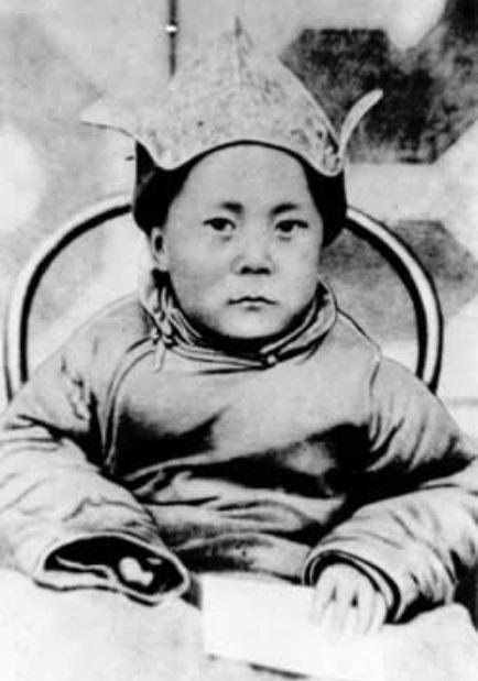 O 14° dalai-lama, considerado a reencarnação de Buda, é fotografado quando criança, em data não conhecida