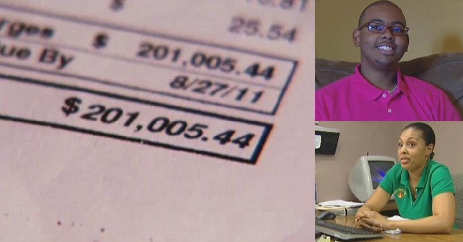 Valor da conta: R$ 443 mil - Celina Aarons, moradora da Flórida (EUA), costumava receber contas de celular em torno de US$ 175 (R$ 386). Mas em outubro de 2011 veio a cobrança ?estratosférica? de US$ 201 mil (R$ 443 mil). Foram necessárias 43 páginas na conta para descrever os gastos. Celina deu celulares a dois de seus irmãos, ambos deficientes auditivos que usam os aparelhos apenas para enviar SMS e acessar vídeos. Eles viajaram para o Canadá (Shamir, o mais novo, está na foto) e passaram duas semanas lá, sem desativar o roaming de dados. Foram mais de 2.000 mensagens de textos trocadas. A operadora T-Mobile reduziu a cobrança para US$ 2.500 (R$ 5.516)