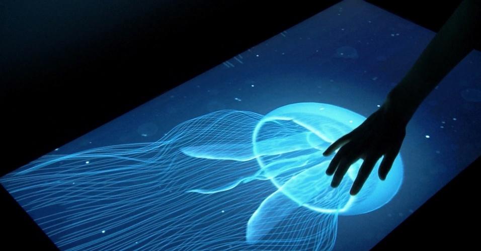 9.out.2013 - Cientistas do Centro de Pesquisas da Disney em Pittsburgh (EUA) desenvolveram uma tela sensível ao toque que permite ao usuário sentir a forma e textura dos objetos. Chamada de ''Renderização tátil de funcionalidades 3D'', a tecnologia se baseia em pulsos eletrônicos na tela que passam a impressão de volume na superfície plana do dispositivo. A empresa diz que a tecnologia poderia ajudar deficientes visuais no uso de telas digitais. Segundo o ''Washington Post'', a Disney apresentará a tecnologia para tablets e smartphones em um simpósio na Escócia neste mês