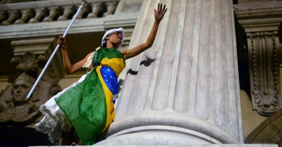 15.out.2013 - Protesto pelo Dia do Professor no Rio de Janeiro