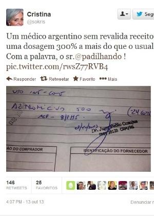 Argentino do Mais Médicos é investigado por suposto erro ao receitar droga