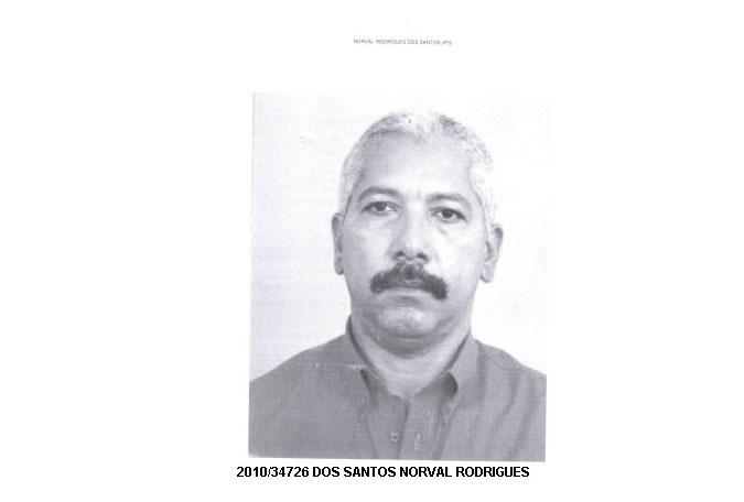 16.out.2013 - Norval Rodruigues dos Santos, 57, nascido no Amazonas, é procurado por tráfico internacional de drogas