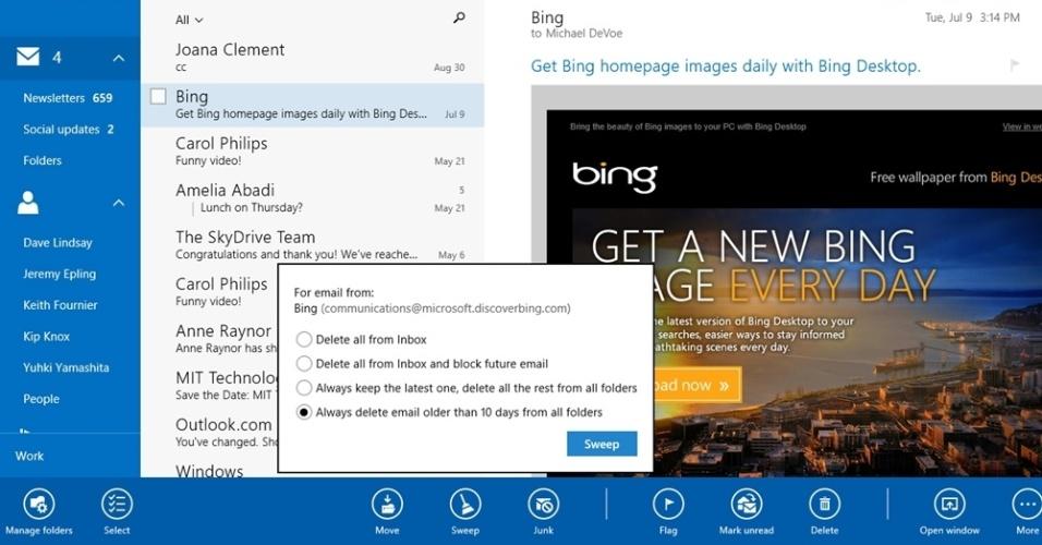 Outlook no Windows 8.1