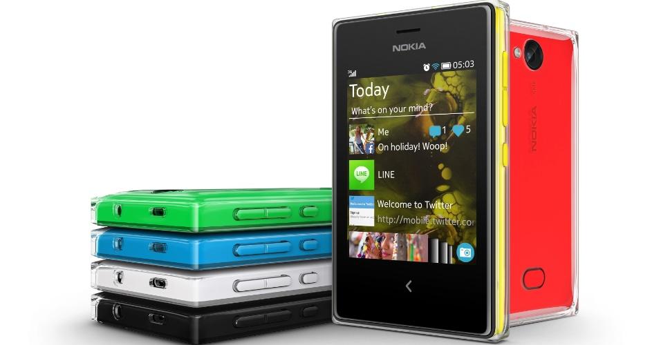 Asha 503, da Nokia, tem conexão 3G, tela de 3 polegadas e câmera de 5 megapixels