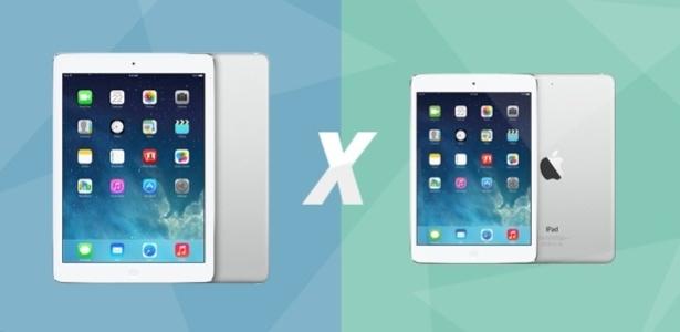 Comparativo coloca lado a lado o iPad Air e iPad mini