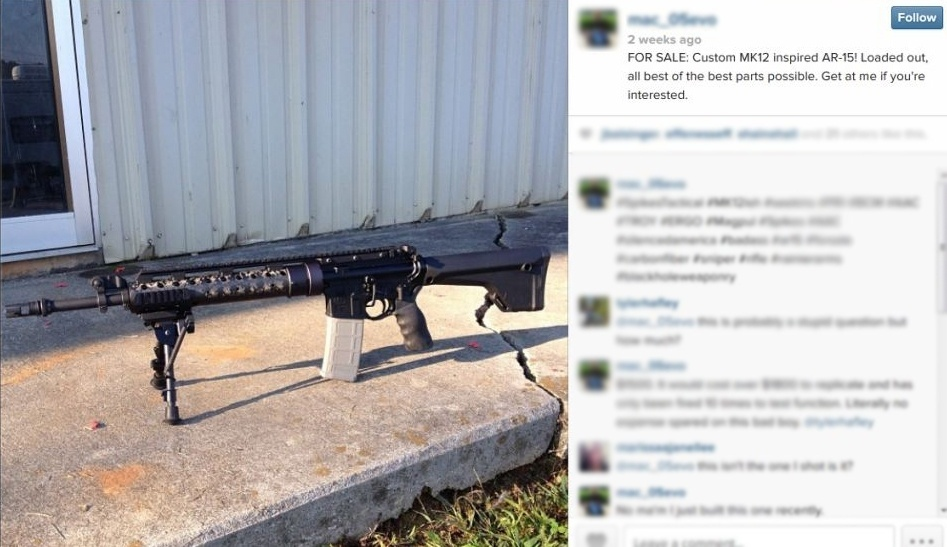 Usuários do Instagram vendem armas nos EUA pela rede social