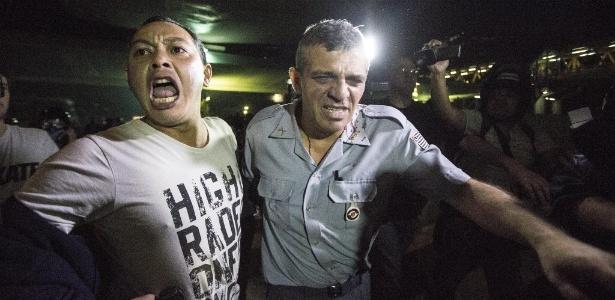 O coronel Reynaldo Rossi, comandante da Polícia Militar na região central, ficou ferido durante protesto do MPL (Movimento Passe Livre)  - Marlene Bergamo/Folhapress