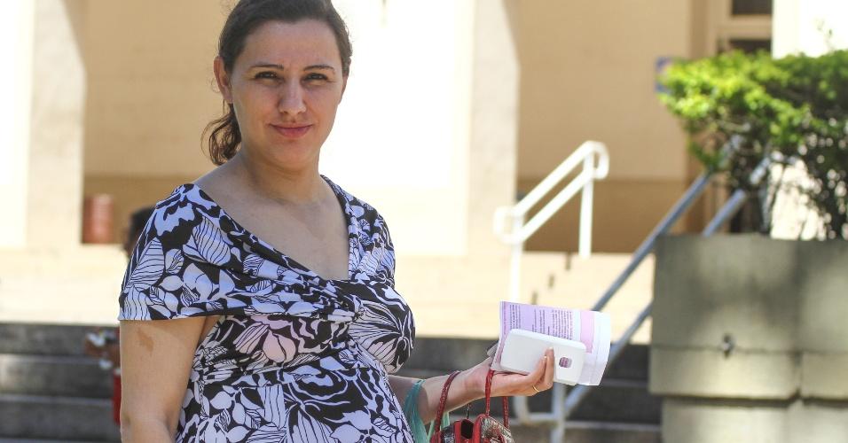 27.out.2013 - Romilda Oliveira, 27, grávida de sete meses, foi colocada por engano na sala dos sabatistas no primeiro dia de provas e só deixou o local às 21h, relatou após o segundo dia das provas do Exame Nacional do Ensino Médio (Enem) em Curitiba